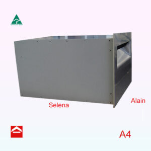 Marine grade stainless steel front plate with aluminium letterbox behind suitable for brick work 350w x 175h x 250d (Letterbox)
