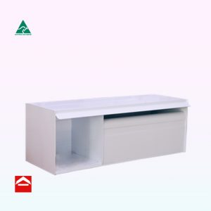Anders rear opening rectangular letterbox with mail section and newspaper section 180mm wide.