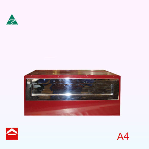 Augustin rear open rectangular letterbox with mounted face plate