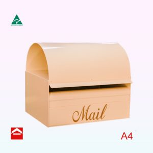 Special Dome rear open A4 rectangular letterbox with a dome roof for newspapers and junk mail