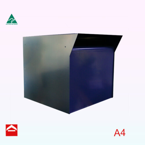 Front view of Brett Rear open small parcel box 350w x 350h x 395d