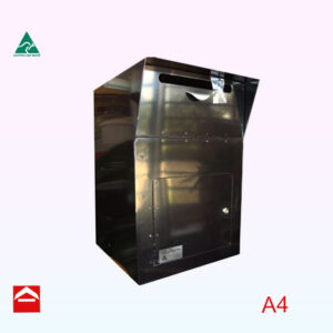 Front open aluminium mail/parcel chest 400mm wide x 400mm deep x 600mm high