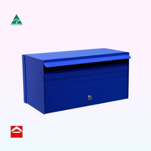Christiano Front Opening Aluminium Letterbox suitable for besser block. 390mm wide x 200mm deep x 200mm high.