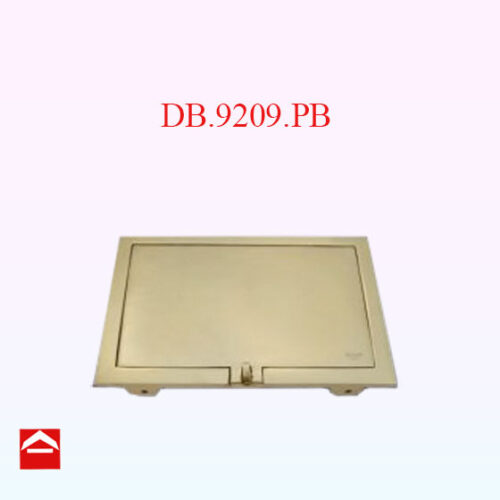 Image of rear solid cast brass plate 230mm wide x 165mm high
