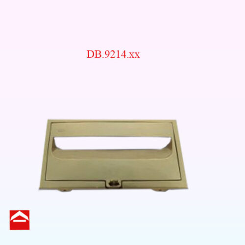 Image of a front combination plate with a hasp lock in polished brass