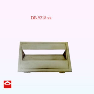 Image of a solid cast brass front plate that suits DB.9219.xx rear plate