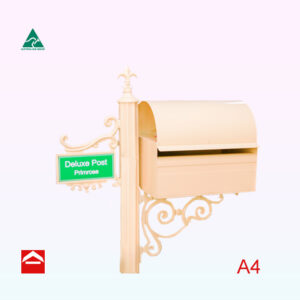 Rectangular letterbox rear opening on fluted post with no paperholder made for Japan market