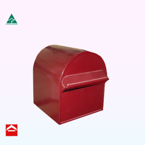 Front of Medieval Treasure rectangular letterbox 240mm wide x 300mm deep x 300mm high