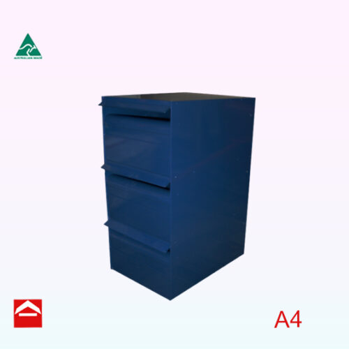 Image of bank of 3 rear open letterboxes 1wx3h.