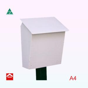 Rohan Streamline top opening aluminium letterbox. Not lockable.