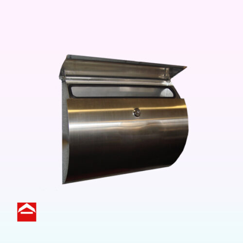 Slimline Stainless steel letterbox with curved front