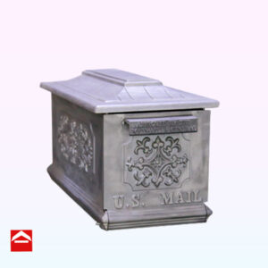 Solid Cast rectangular aluminium mailbox USA mail style. 215mm wide x 510mm deep x 265mm high. Ready for powder coating.
